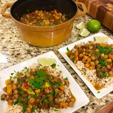 Chickpea & Sweet Potato Coconut Curry