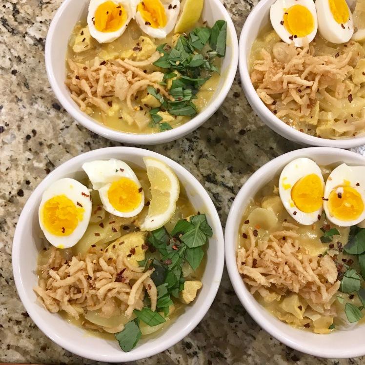 burmese coconut chicken noodle soup