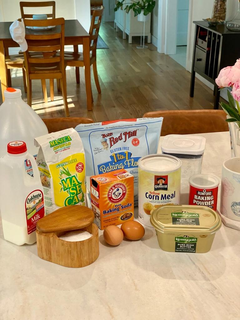 Masa pancakes - gluten-free - ingredients